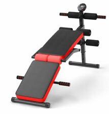 Panca Sit Up Multi Allenamento Pieghevole Regolabile Monitor LCD Training Palestra