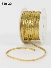 MAY ARTS~SOLID METALLIC RIBBON~GOLD~Chic Elegant Decorator~1/8TH INCH X 6 YARDS!