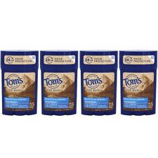 4 Pack Tom's of Maine Men's Long Lasting Deodorant, Mountain Spring, 2.25oz Each