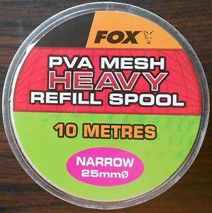 FOX PVA MESH HEAVY NARROW 25mm MESH REFILL CPV007 10 METRES
