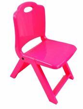 Kids Children Plastic Folding Chair Home Picnic Party 4 Colours Blue