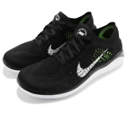 Nike Women's Free RN Flyknit 2018 Running Shoes Black White 942839-001 NEW