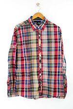 Tommy Hilfiger Vintage Fit Herren Hemd Gr. L Langarm Bunt Karo Shirt