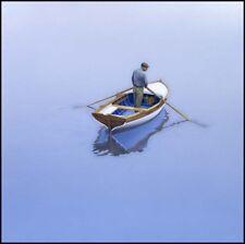 Row boat paintings Croatia ISLANDER Coastal art beach house living rooms ocean