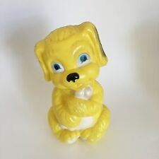 Vintage Regal Blow Mold Yellow Dog Piggy Bank Canada Plastic Retro 10� Tall