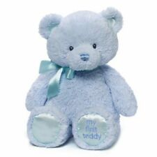 GUND My First Teddy Baby Stuffed Animal, Blue,15 inches