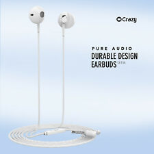 Crazy Genuine Earbuds Earphones Mic for iPhone iPad iPod Samsung