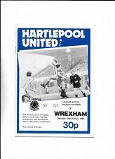 HARTLEPOOL UNITED V WREXHAM 15/10/1983 FOURTH DIVISION (6)