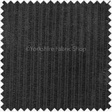 Thin Stripe Line Soft Velvet Cord Fabric Upholstery Sofa Curtains Material Black