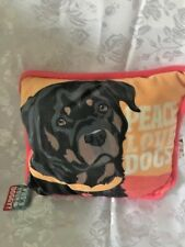 Who's Your Doggie Decorative Pillow-Rottweiler