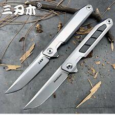 Pocket Folding Knife Blade Handle Outdoor Camping Survival Tool Flipper Bearing