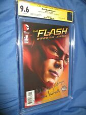 FLASH SEASON ZERO #1 CGC 9.6 SS Signed by John Wesley Shipp ~TV w/Sketch
