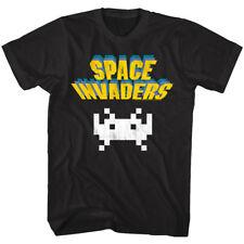 Space Invaders Vintage Alien Logo Men's T Shirt Taito Arcade Game Atari Hi-Score