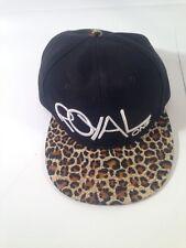 Royal One Leopard Print Snapback Black Hat *NEW*