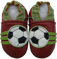 carozoo soccer dark red 12-18m soft sole leather baby shoes