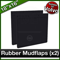 "VOLVO 18"" x 16"" (460 x 410mm) Truck Lorry RUBBER MUDFLAPS Mud Flap Guard PAIR"