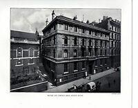 1910 Stampa ~ British & Foreign Bibbia Società Casa ~ The Città Di Londra