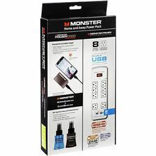 Monster Safer Power Protection Bundle 8 Outlets 2 USB Ports