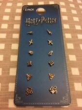 Primark New Harry Potter Six Pairs Of Stud Earrings New And Tagged