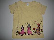 H & M süßes T-Shirt Gr. 104 gelb mit tollem Druckmotiv !!