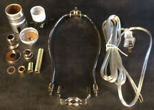 "Table Lamp Wiring Kit 10"" Nickel Plated Harp,Push-Thru Socket,Clear Silver Cord"