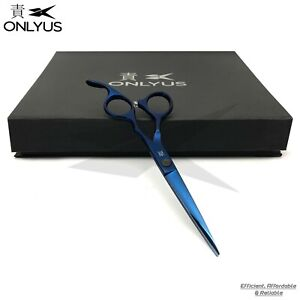 "6"" Barber Scissor Professional Japanese Hair Cutting Salon Onlyus Shears Blue"