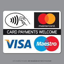 REF2540 Contactless Card Payments Sticker Credit Card Taxi Shop VISA Mastercard