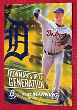 Matt Manning #1/1 2017 Bowman Platinum Bowmans Next Generation Superfractor #1/1