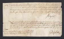 Rare Early Signed Document by 1st Earl Godolphin & 1st Duke of Chandos 1709