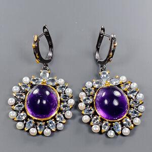 Luxury 150 Us Price Amethyst Earrings Silver 925 Sterling   /E46955