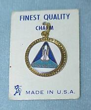 NASA Space Shuttle Logo Gold Tone Metal Charm for ALL Missions - New Made in USA