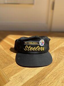 Vintage American Needle Snapback Cap Pittsburgh Steelers Hat Nfl Og Starter