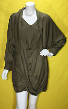 NEW IMPORTED BISS BISS DE ASMIO ITALY ARMY GREEN DRESS medium x TOPSHOP