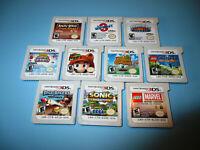 Lot of 10 Nintendo 3DS Games Mario 3D Land Animal Crossing Sonic Generations +