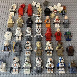 Large LEGO Star Wars Minifigure Bundle Rebel Pilot Clone Storm Trooper Sith Used