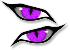 Grande Par evil eyes ojos en morado vinilo coche moto Pegatina 140x60mm