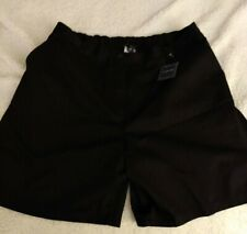 NWT Lands End Women's 7 Day Twill  Black Shorts with pockets Size 16W
