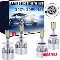 Fits Opel Astra G Saloon HB3 H7 LED Headlight Conversion Kit Bulb 252W 6K White