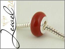 Bead echt Silber 925 Sterling mit Jaspis rot Charm Element für Bettelarmband
