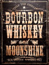 "Bourbon Whiskey, Retro metal Sign/Plaque, Gift, Home, Bar/ Pub 10"" x 8"" Large"