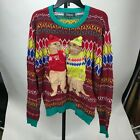 33 Degrees Meercat Couple Ugly Christmas Sweater Medium