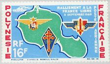 French Polynesia Polinesia 1964 37 c31 Carta Map takiti FREE French Emblems MNH