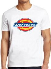 Deftones T Shirt White Pony Rock Nu Metal Workwear Inspired Logo  Gift Tee 103