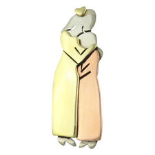 Mima & Oly Mother and Daughter PIN - Family Sisters Siblings Brooch Lapel Gift