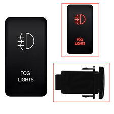 Red Fog Light  LED Bar Car Push Switch For Standard Toyota SUV FJ Cruiser Hilux