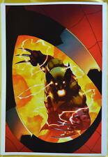ASTONISHING SPIDER-MAN & WOLVERINE 6 COVER Print 14 x 20 Marvel