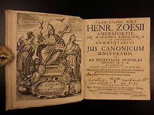 1691 Hendrik Zoesius Canon LAW Commentary on Pope Gregory IX & Inquisition