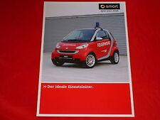 SMART Fortwo Feuerwehr Prospektblatt von 2010