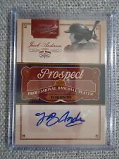 2011 Playoff Prime Cuts Prospect Jacob Anderson Auto #/299