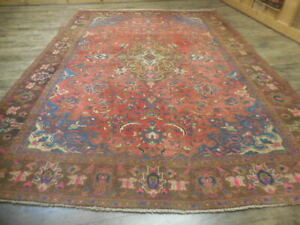 C1930 VGDY ANTIQUE LILIHAN MALLAYER SAROUK SERAPI HERIZ 7x10 ESTATE SALE RUG